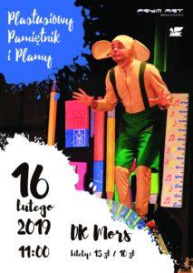 """Spektakl dla dzieci: """"Plastusiowy pamiętnik i plamy"""" @ Dom Kultury MORS"""